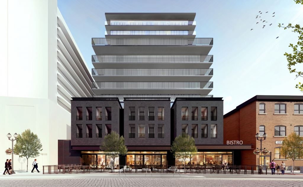 Rendering of 1 Jarvis Street Condos exterior front view
