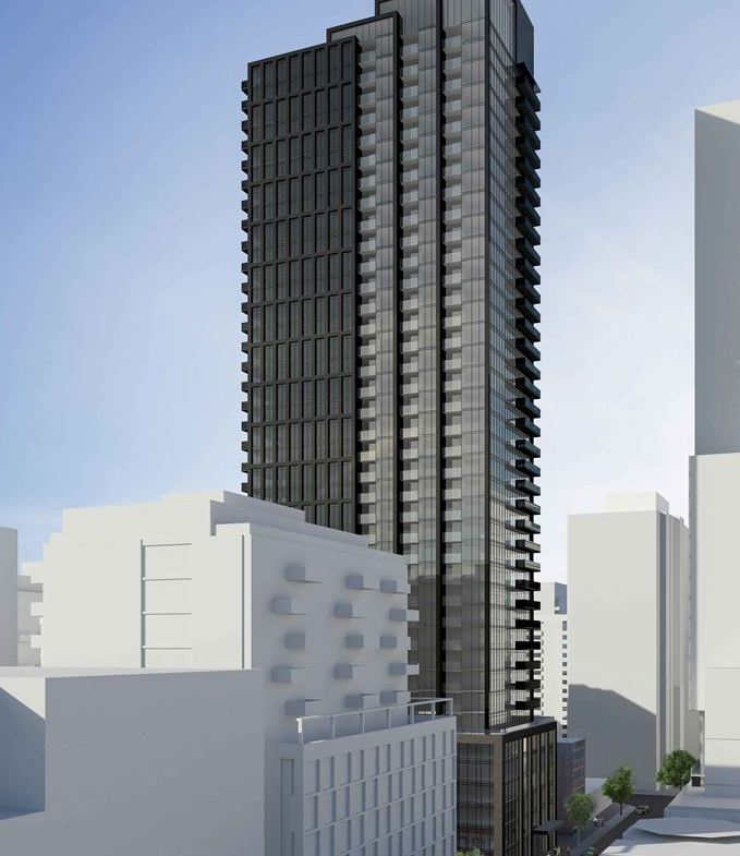 Rendering of 234 King Street East Condos exterior full view