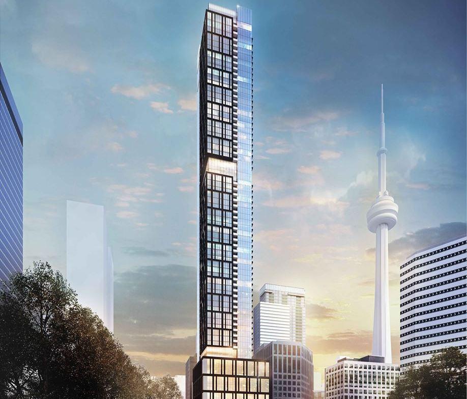 Exterior rendering of 277 Wellington Street West Condos in Toronto