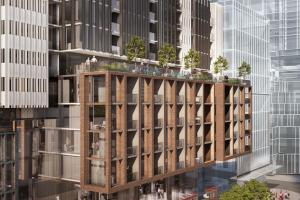 Rendering of 400 King West Condos exterior siding detail