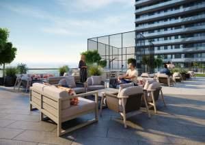 Rendering of Realm Condos terrace