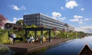 Rendering of Upper Vista Welland waterfront access