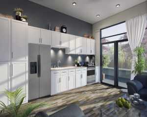 Rendering of Upper Vista Welland suite kitchen