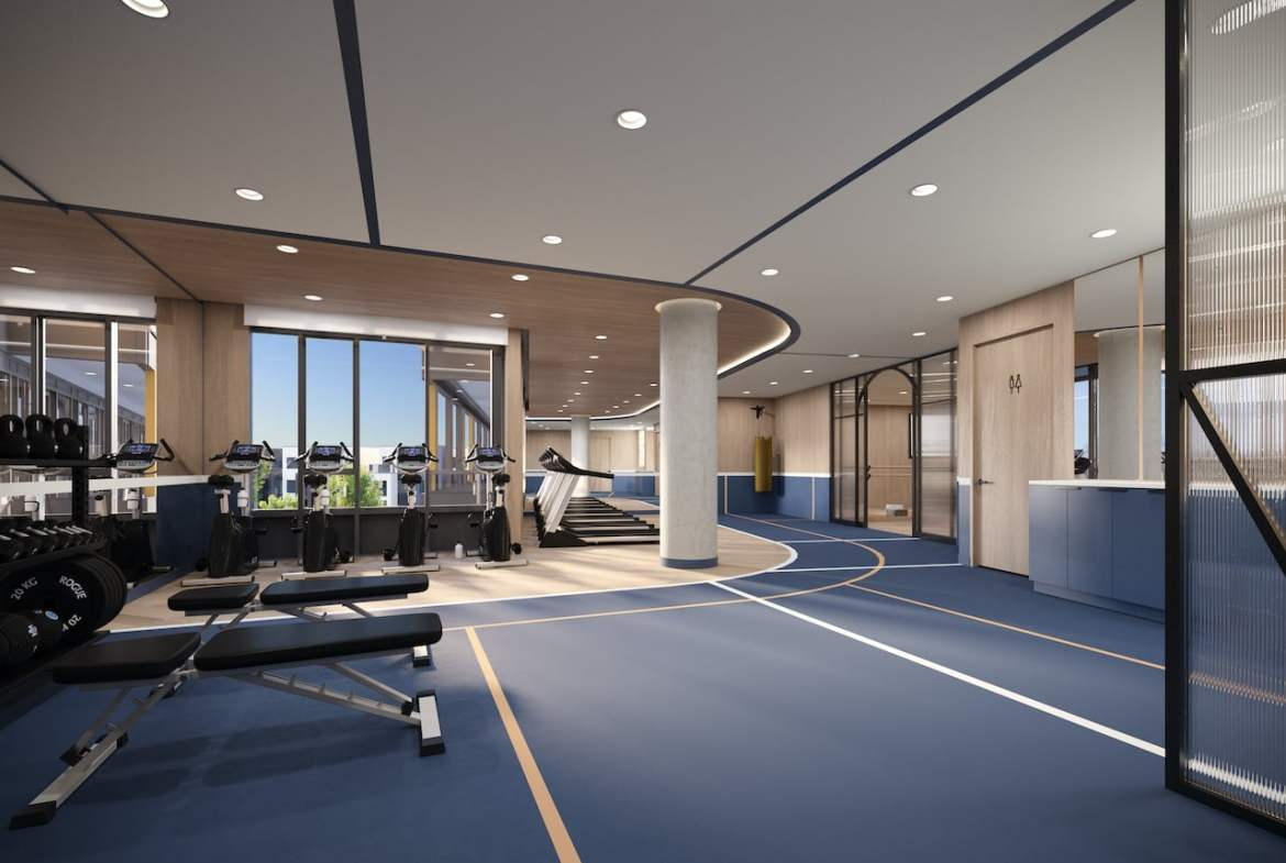 Rendering of Realm Condos fitness centre