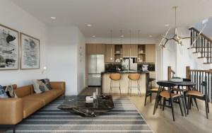 Twelve Oaks Towns suite interior open concept