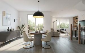 Twelve Oaks Towns suite interior dining room