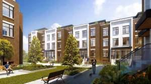 Rendering of 9560 Islington Urban Towns courtyard