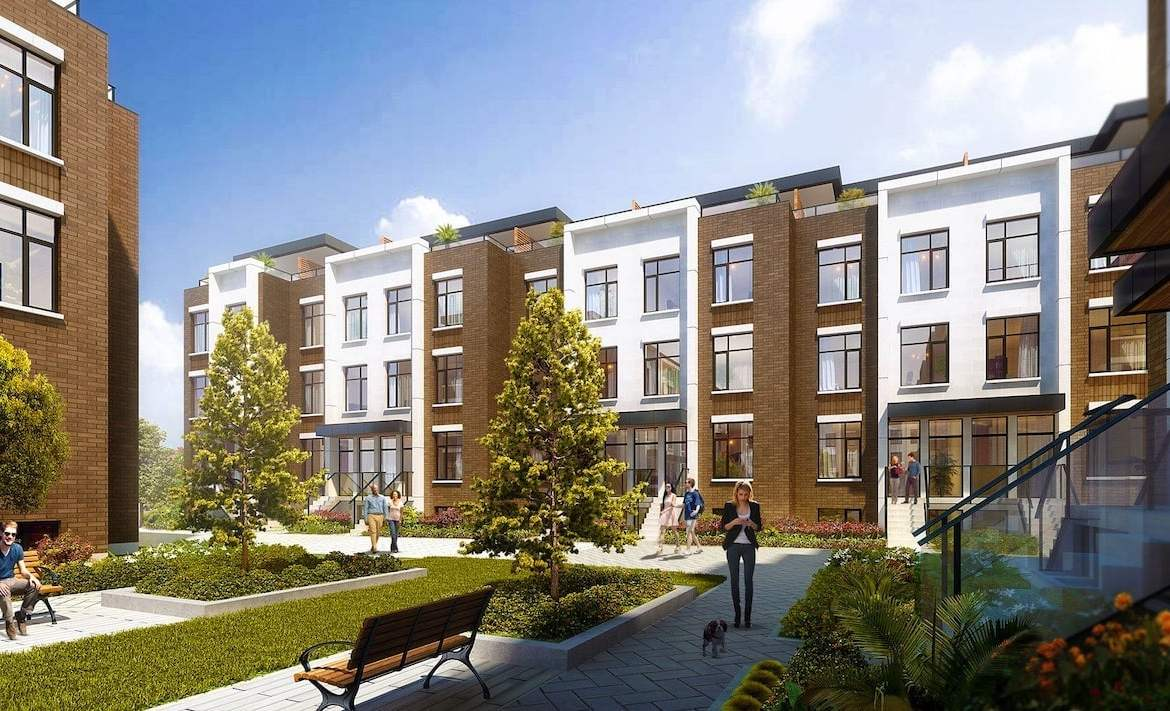 Rendering of 9560 Islington Urban Towns courtyard