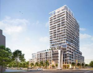Exterior rendering of 9825 Yonge Street Condos in Richmond Hill