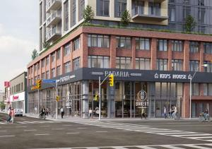 Rendering of 990 Bloor West Condos streetview
