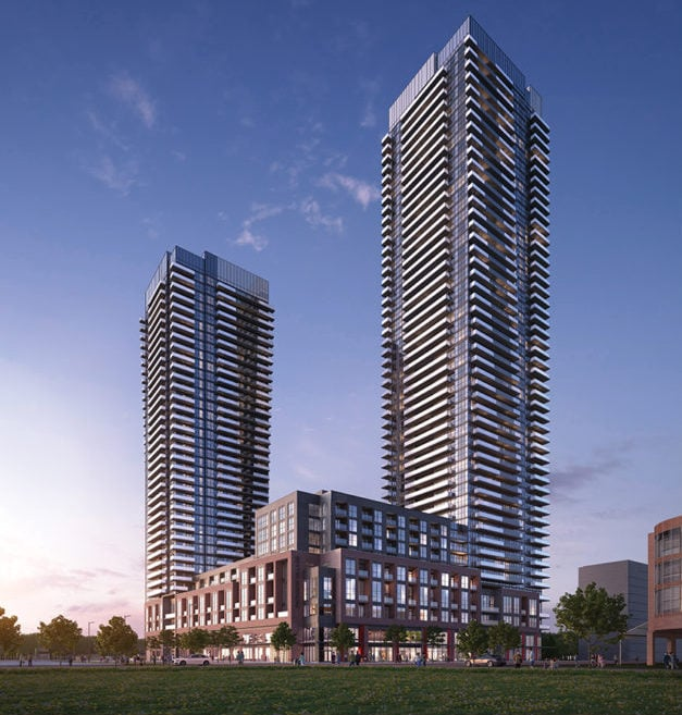 Exterior rendering of Avia 1 and 2 Condos