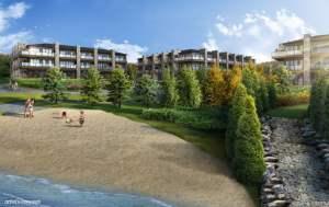 Rendering of Crescent Bay Condos sandy beach access