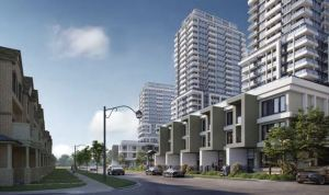 Rendering of Joy Station Condos and Towns