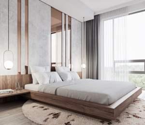 Rendering of Mondria Condos suite bed