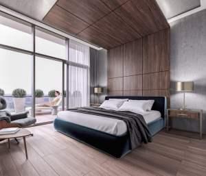 Rendering of Mondria Condos suite bedroom