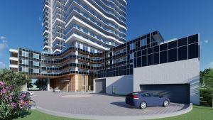 Universal City 6 Exterior parking garage