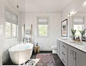 Rendering of West&Post towns interior bathroom