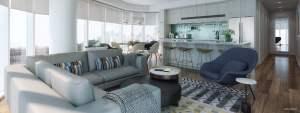 Rendering of The Theodore Condos suite interior