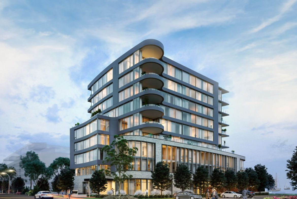 Rendering of 55 Port Condos at the waterfront