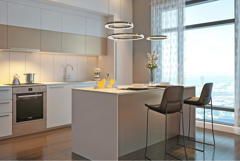 Rendering of 628 Saint-Jacques Condos interior kitchen