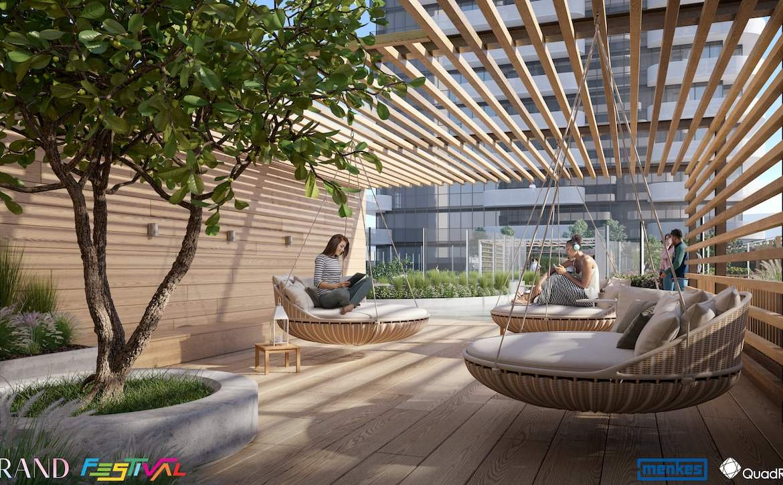 Grand Festival Condos exterior lounge