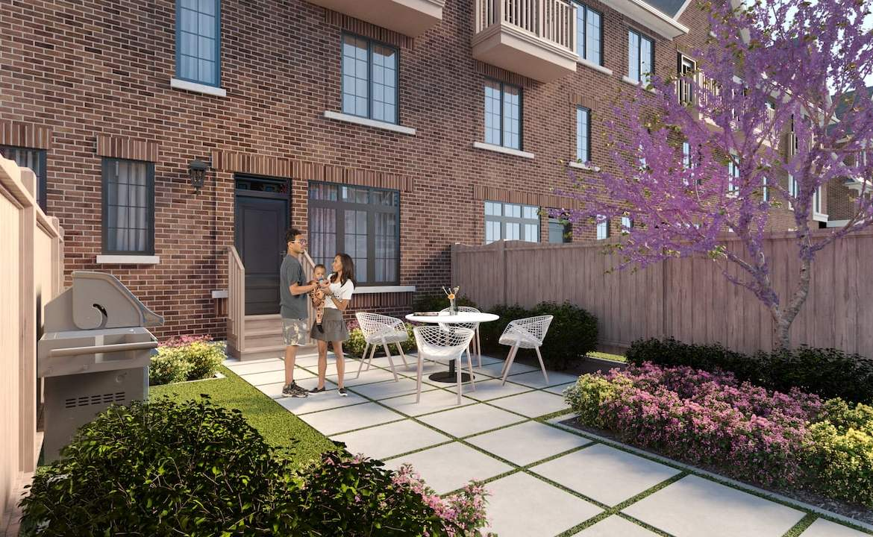 Rendering of Highbury Gardens courtyard
