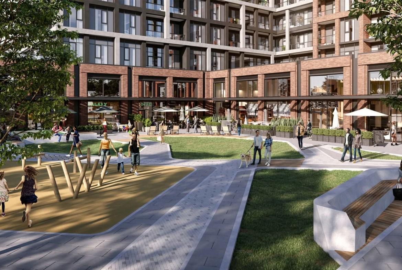 The Dupont Condos courtyard