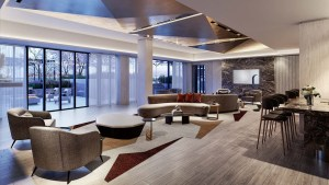 The Dupont Condos party room