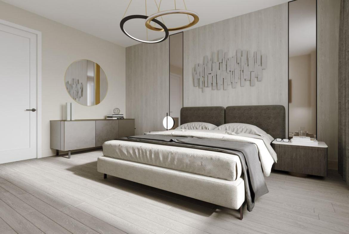 Rendering of Lookout On The Knoll Towns The Reserve Collection interior master bedroom