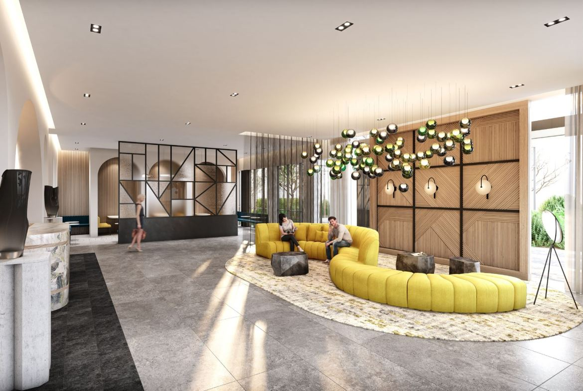 Rendering of Stella at Southside Condos lobby