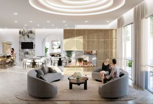 Rendering of Stella at Southside Condos party room