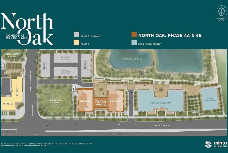 Site plan of North Oak Condos in Oakvillage