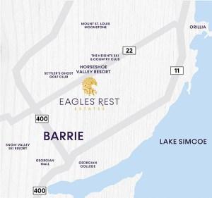 Eagles' Rest Estates map
