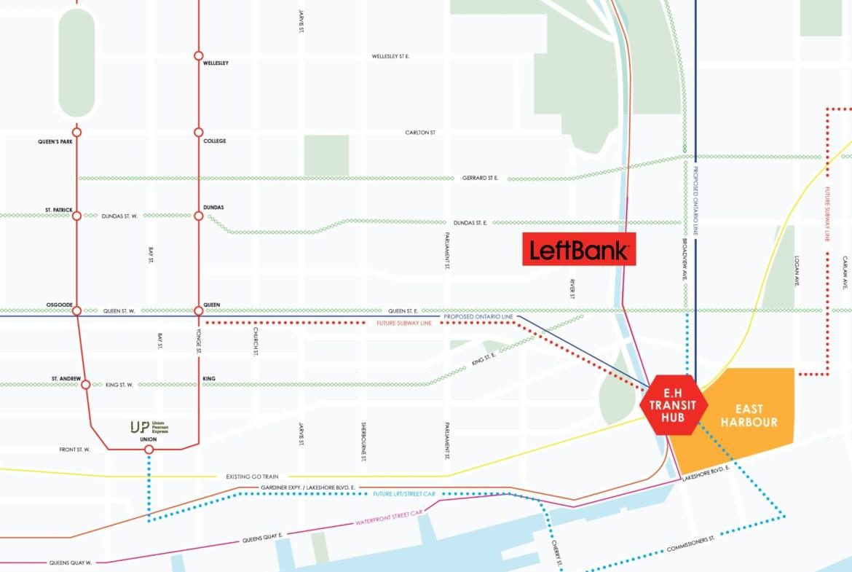 Map of LeftBank Condos in Toronto