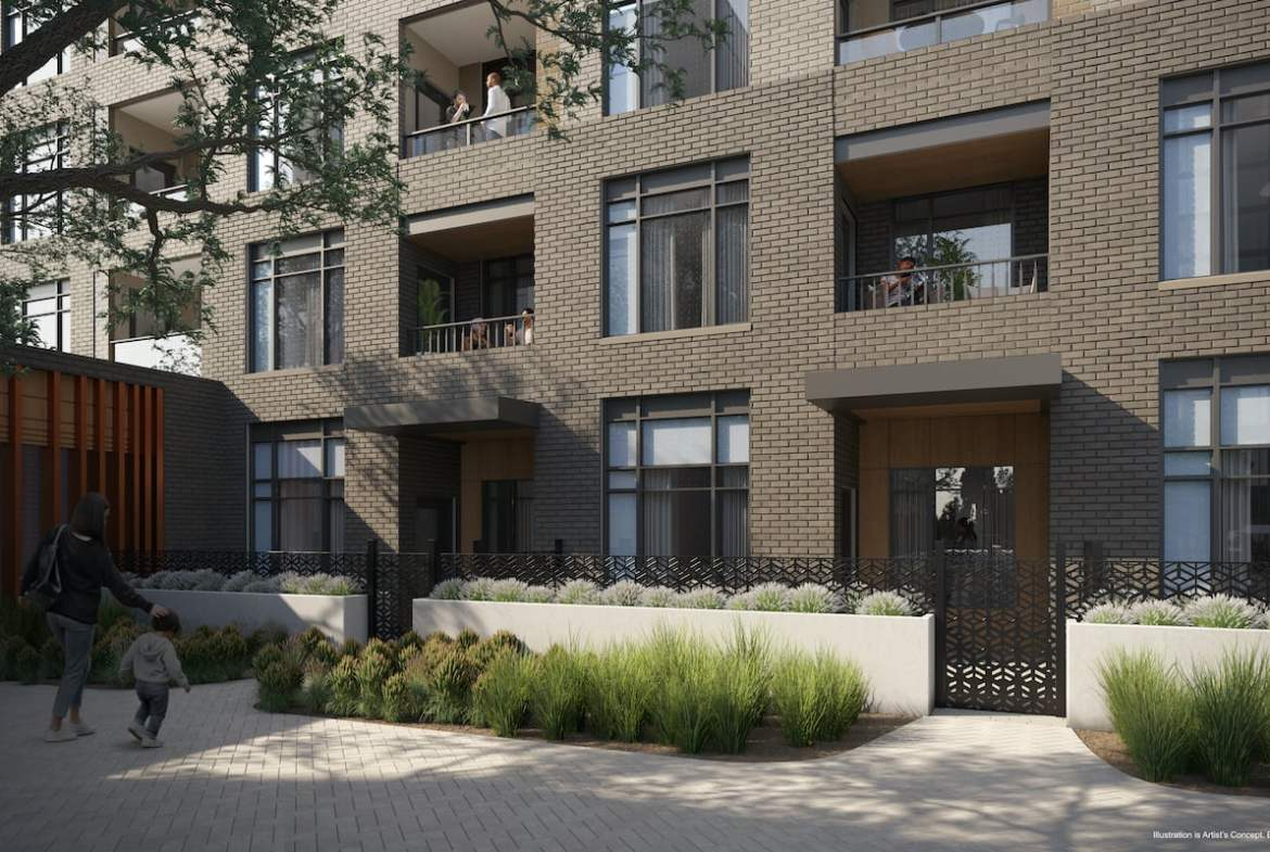 Rendering of Boulevard at the Thornhill ground level terrace