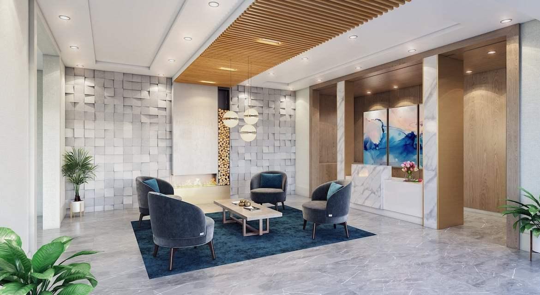 Rendering of LakeVu Two lobby