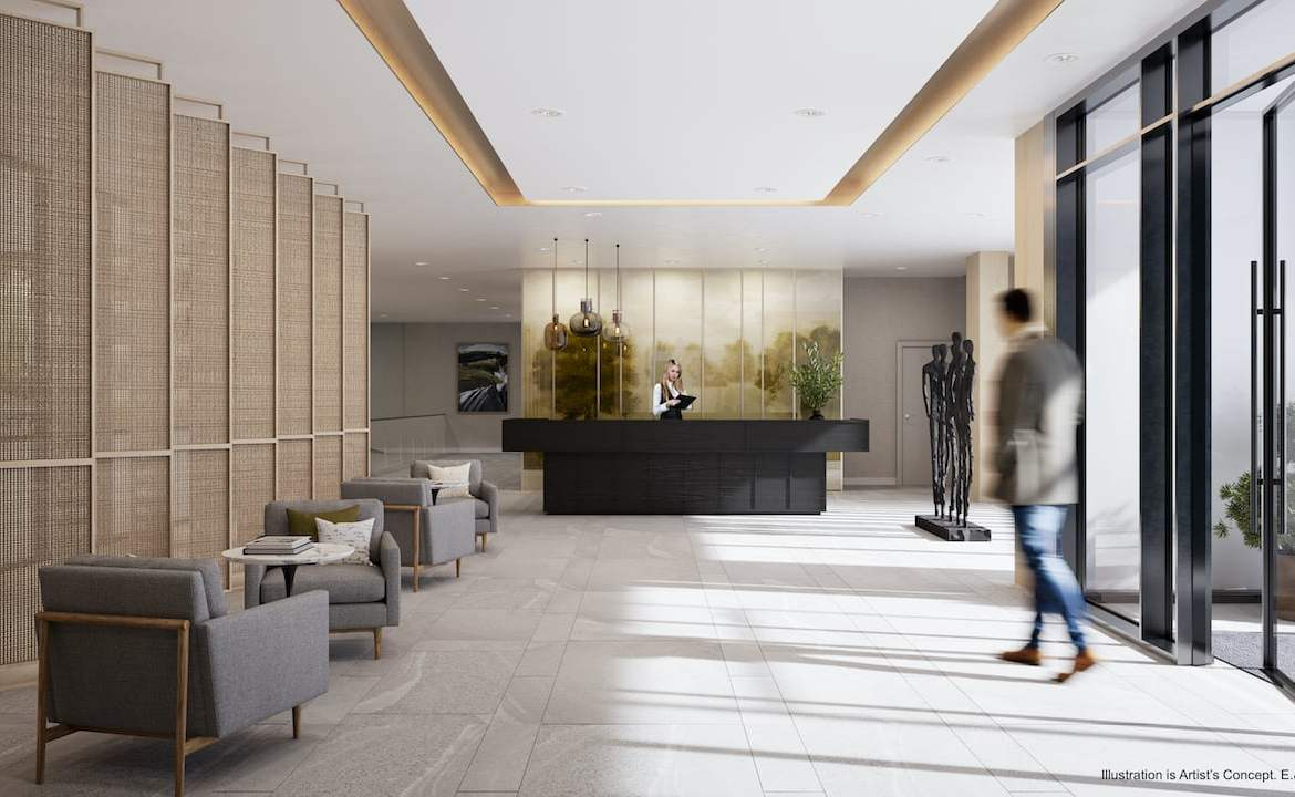 Rendering of Boulevard at the Thornhill lobby