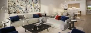 Rendering of Residences on Keewatin Park suite interior living room