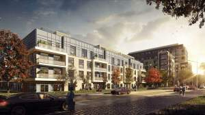 Rendering of 172 Finch West Condos in the evening