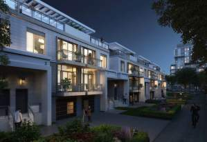 Rendering of 172 Finch West Condos at night