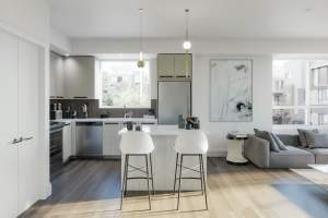 Rendering of Glenway Urban Towns suite interior kitchen