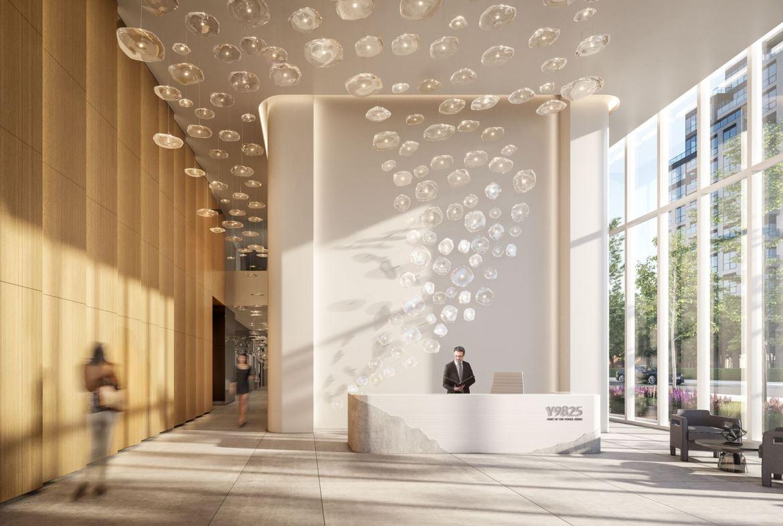Rendering of Y9825 Condominiums lobby