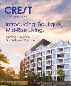 Introducing Crest At Crosstown coming july 2021