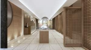 Crest Condos interior lobby entrances