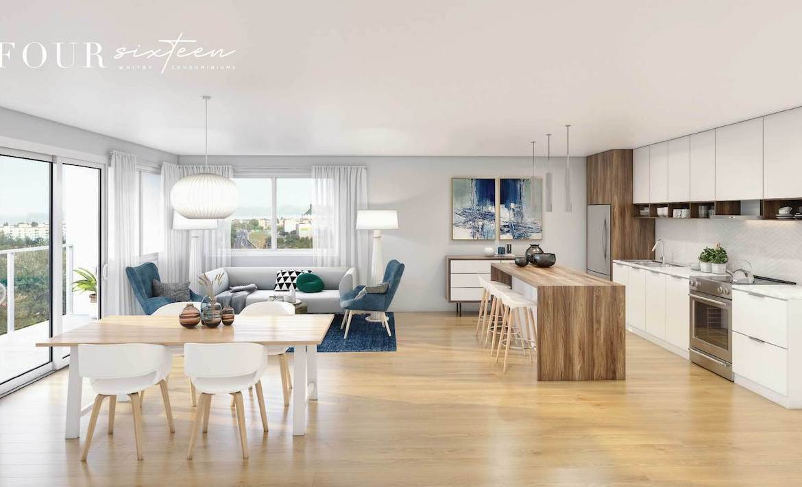 Rendering of Four Sixteen Whitby Condos open-concept