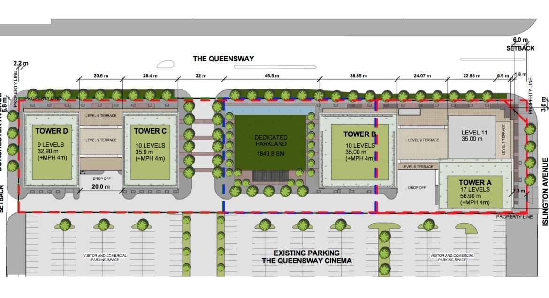 Site plan of Verge Condos in Toronto Ontario