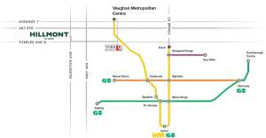 Hillmont at SXSW transit map of Vaughan