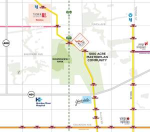 Map of Westline Condos at Downsview Park in Toronto