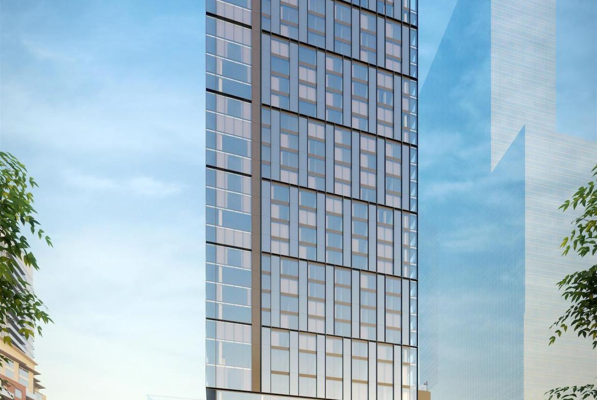 Rendering of 33 Parliament Condos exterior full front view