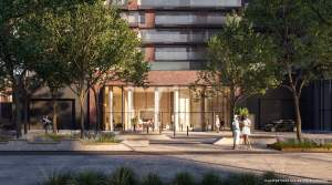 Rendering of Brightwater The Mason exterior entrance